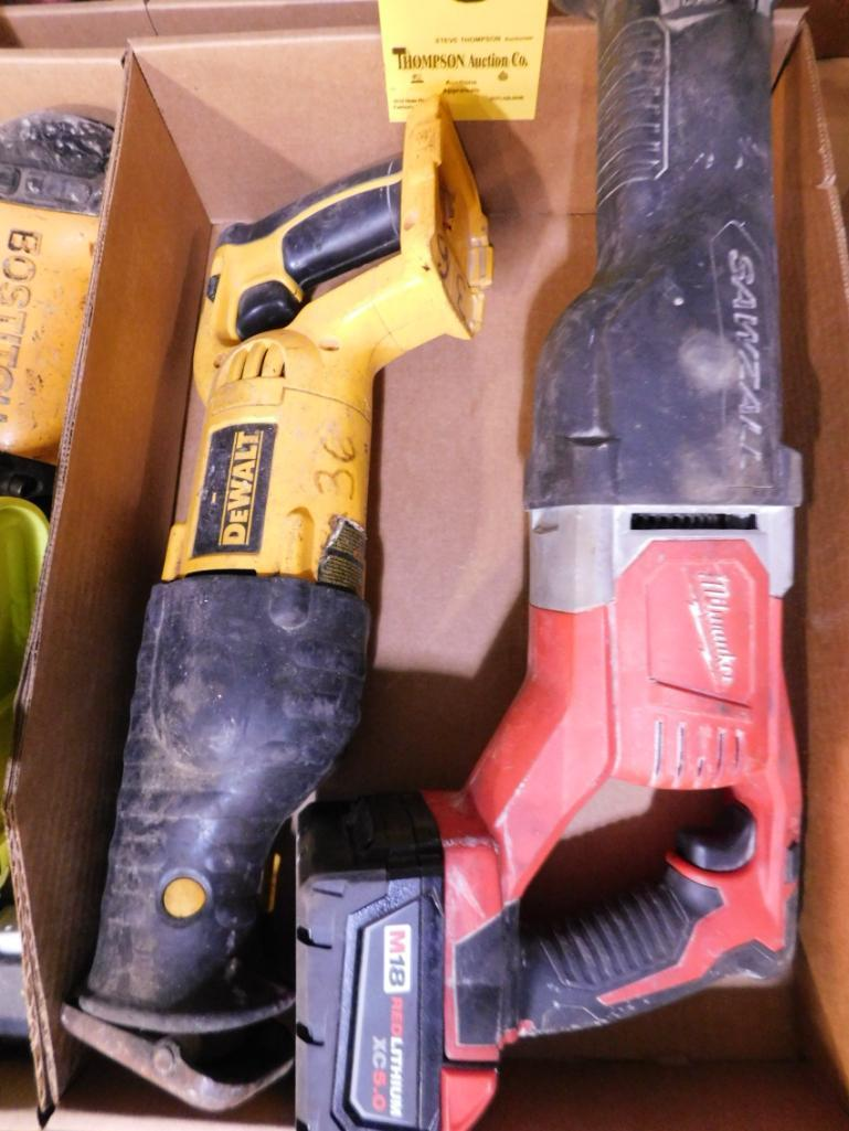 milwaukee-cordless-sawzall-with-battery-and-dewalt-cordless-saw