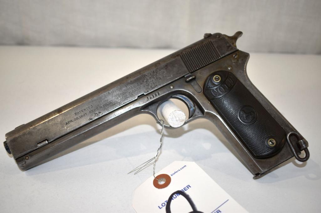 colt-1902-military-model-38-cal-semi-auto-pistol-sn-34595-good-bore-one-magazine