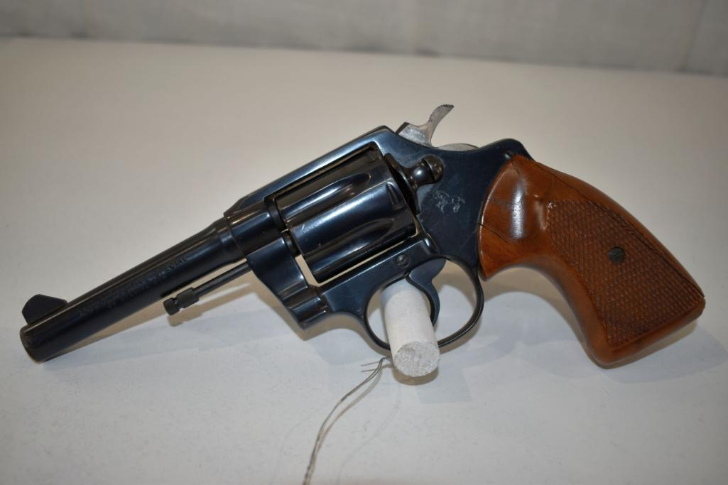 colt-police-positive-special-38-special-cal-6-shot-revolver-wooden-grips-on-left-hand-side-are-cracked-sn-36660m-holster-ware
