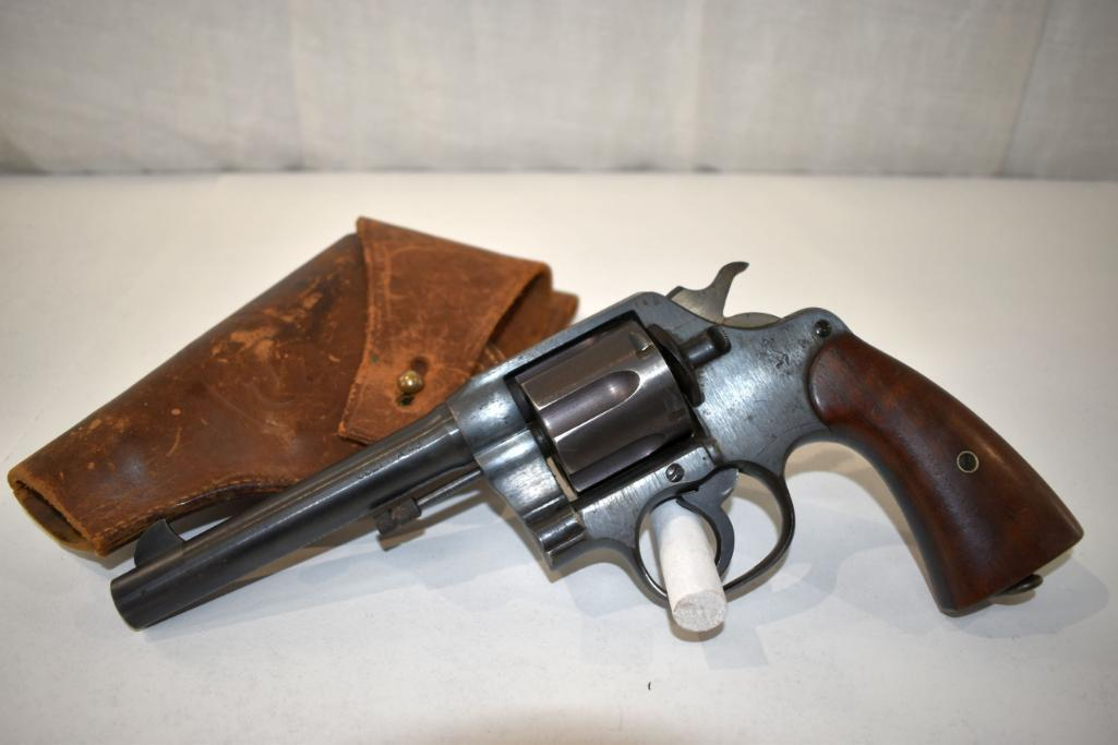 colt-1917-us-army-issue-colt-da-45-cal-revolver-6-shot-sn-152162-with-leather-us-holster