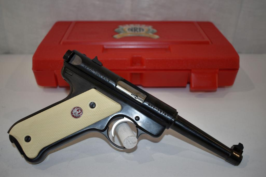 ruger-mark-ii-22-cal-lr-semi-auto-pistol-nra-william-b-ruger-endowment-commemorative-1916-to-2002-with-case-two-magazines-sn-nra-19747