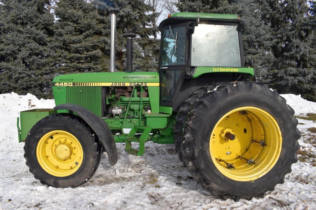 john-deere-4450-mfwd-1619-hours-showing-18-438-band-duals-14-930-front-tires-with-fendes-3pt-quick-hitch-2-hydraulic-new-style-step-15-speed-power-shift-rock-box540-1000pto-actua