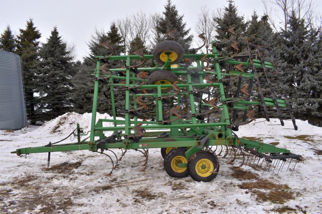 john-deere-980-field-cultivator-30-5-3-bar-tine-harrow-walking-tandems-depth-control-sn-n00980x005280