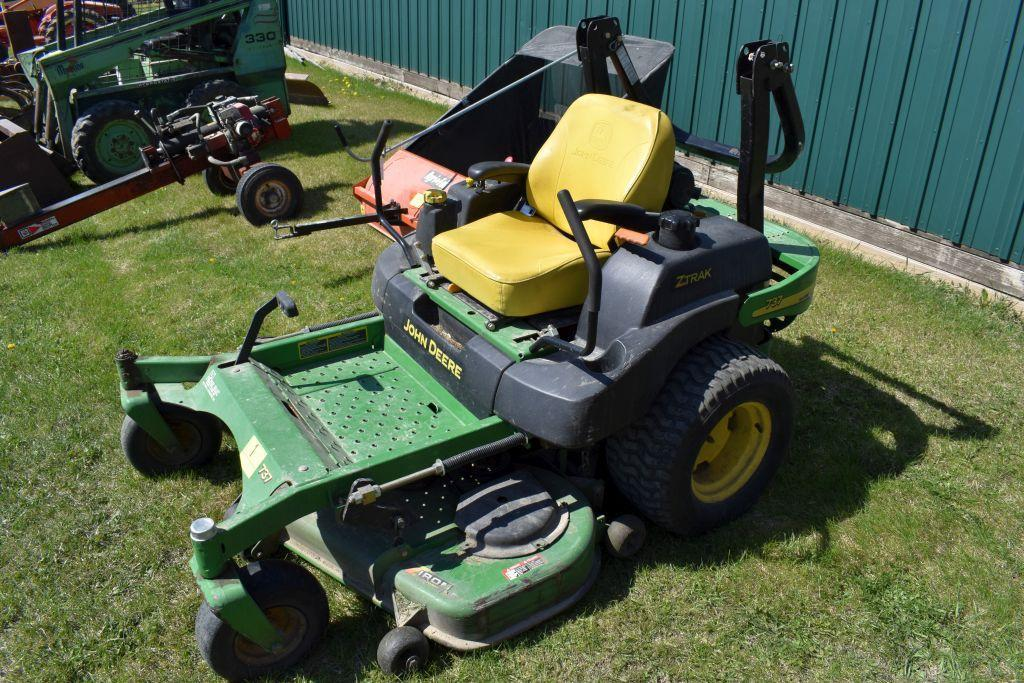 john-deere-737-ztrac-zero-turn-lawn-mower-7-iron-commercial-54-deck-739-hours-23hp-engine