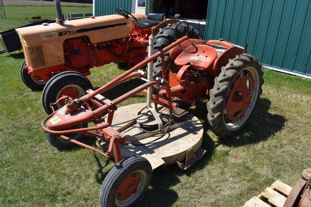 allis-chalmers-g-tractor-with-belly-mower-48-7-230-tires-sn-g5435