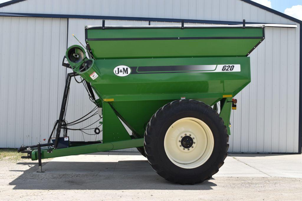 jm-model-620-14-grain-cart-1000pto-roll-tarp-dt712-radial-tires-tractor-lug-digi-star-scale-unload
