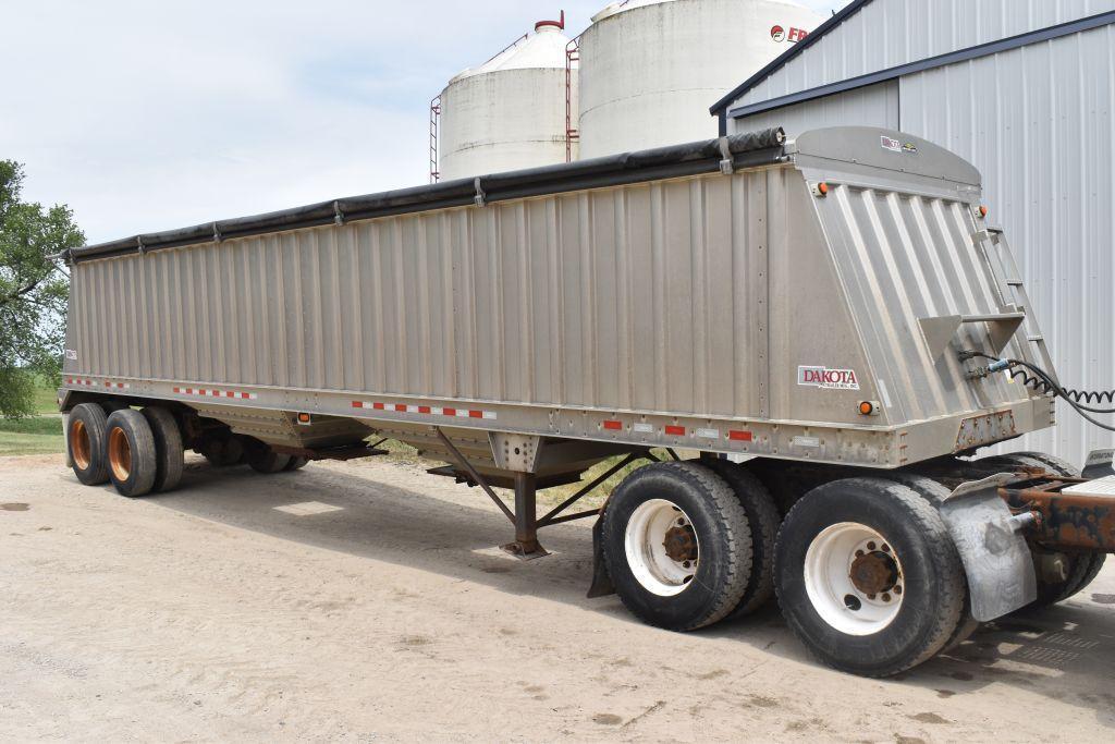 2011-dakota-aluminum-hopper-bottom-grain-trailer-38x-96x66-ag-hoppers-roll-tarp-spring-ride