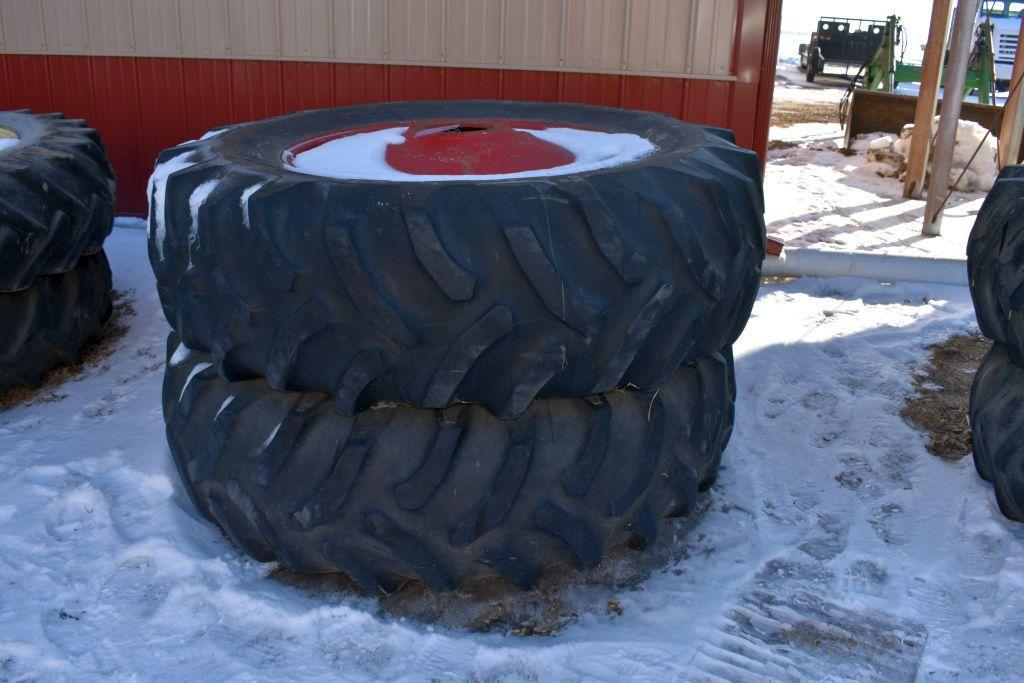 pair-of-20-838-tires-on-mw-9-bolt-duals-painted-red