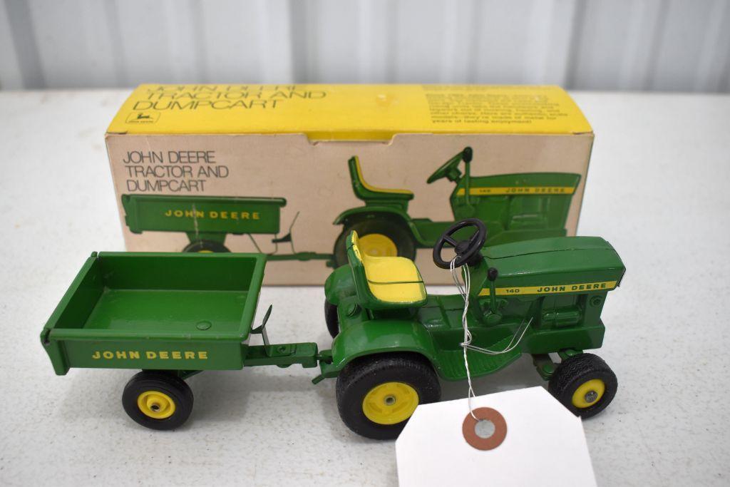 original-ice-cream-box-ertl-john-deere-140-garden-tractor-with-dump-cart-box-in-good-condition