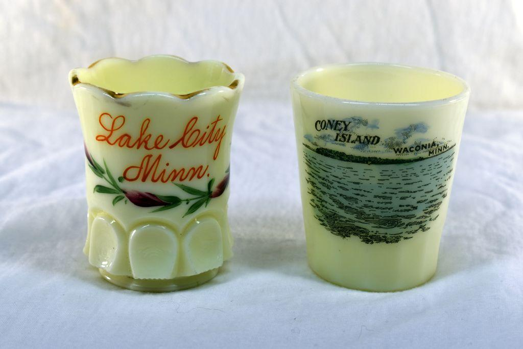 2-custard-glass-toothpick-holders-1-from-lake-city-mn-and-1-from-waconia-mn