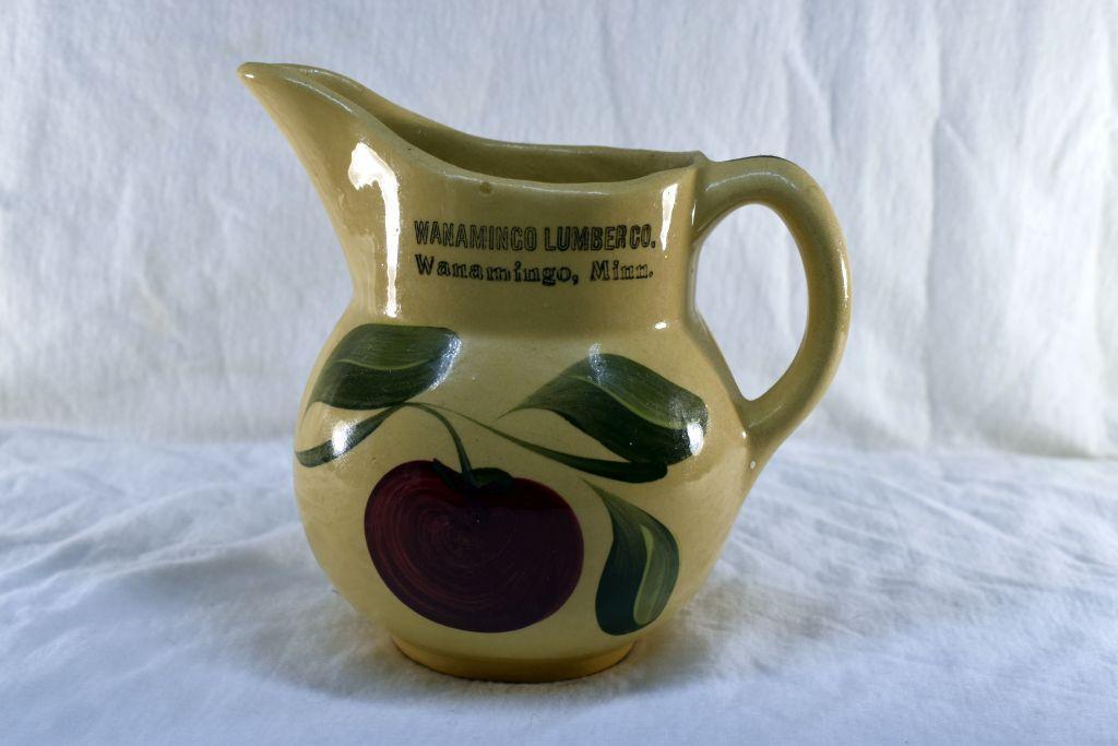 watt-ware-pottery-pitcher-from-wanamingo-lumber-wanamingo-mn