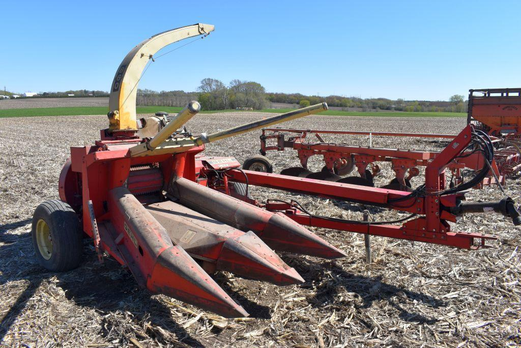 gehl-860-forage-harvester-hydro-swing-elec-spout-1000-pto-sells-with-tr3038-2-row
