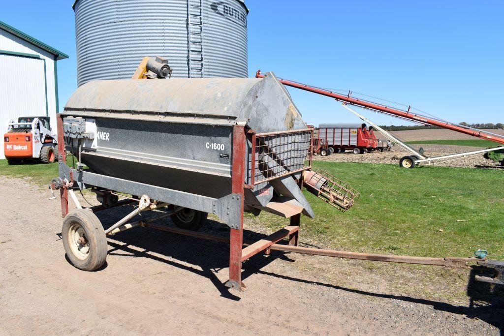 hutchinson-c-1600-grain-screener-36-drum-1hp-drum-motor-2hp-fill-auger-motor