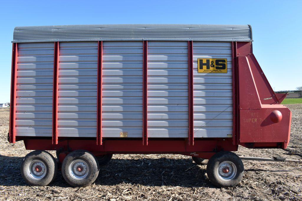 h-s-74-steel-forage-box-16-with-minnesota-13-ton-tandem-axle-gear