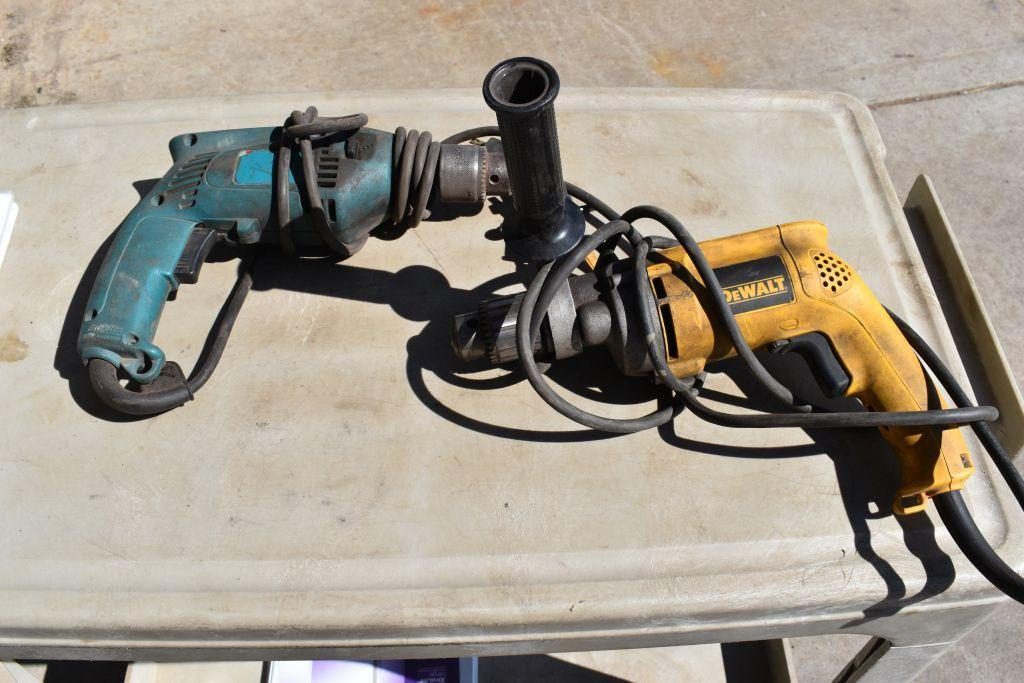 dewalt-1-2-hammer-drill-electric-tested-working-mikita-1-2-electric-drill-working