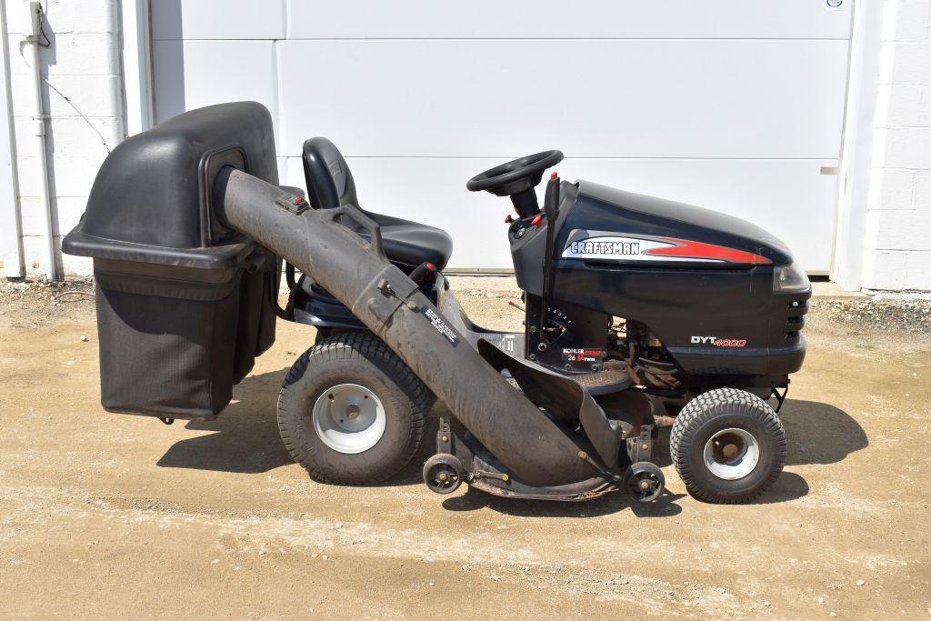 craftsman-dyt-4000-garden-tractor-26hp-hydro-48-deck-bagger