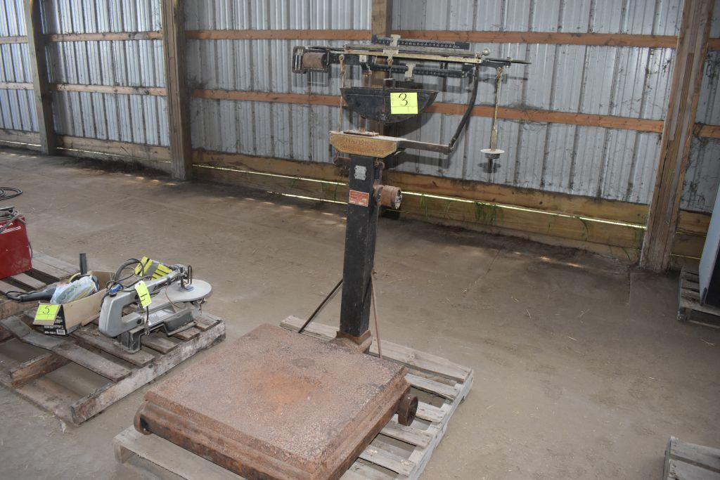 national-counting-weight-machine-platform-scale-with-weights