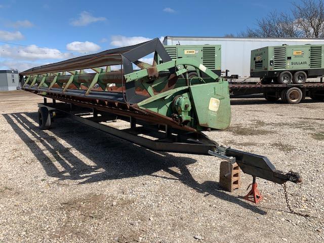 john-deere-230-platform-header-w-trailer