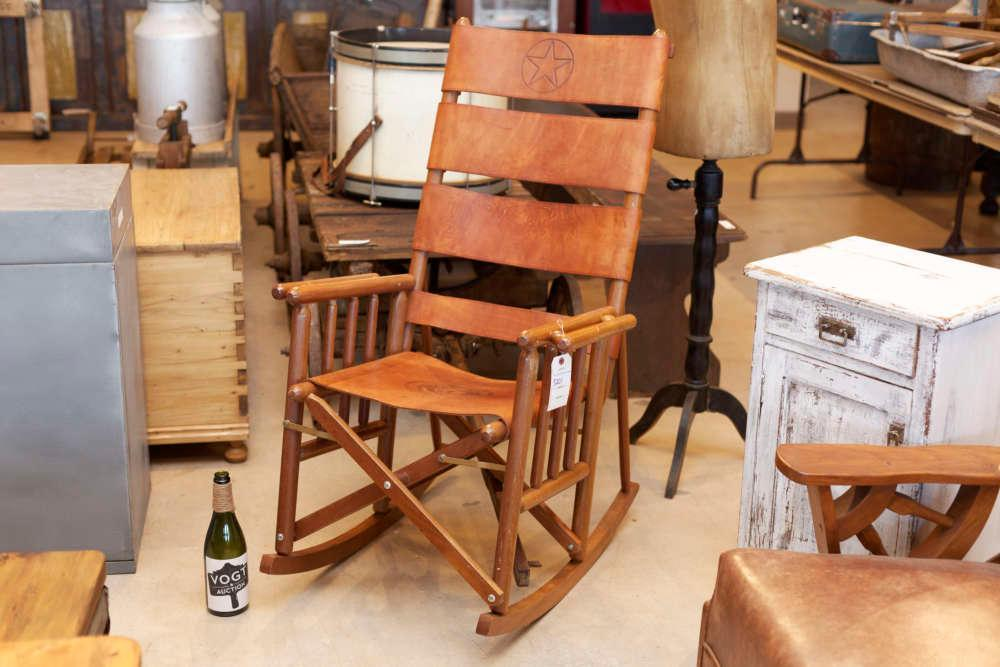 Fine Texas Tooled Leather Rocking Chair Vogt Auction Unemploymentrelief Wooden Chair Designs For Living Room Unemploymentrelieforg