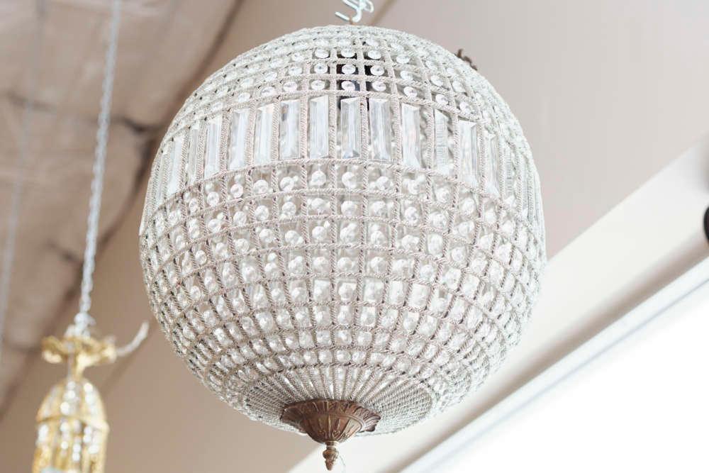 Art Deco Style Round Crystal Chandelier Vogt Auction