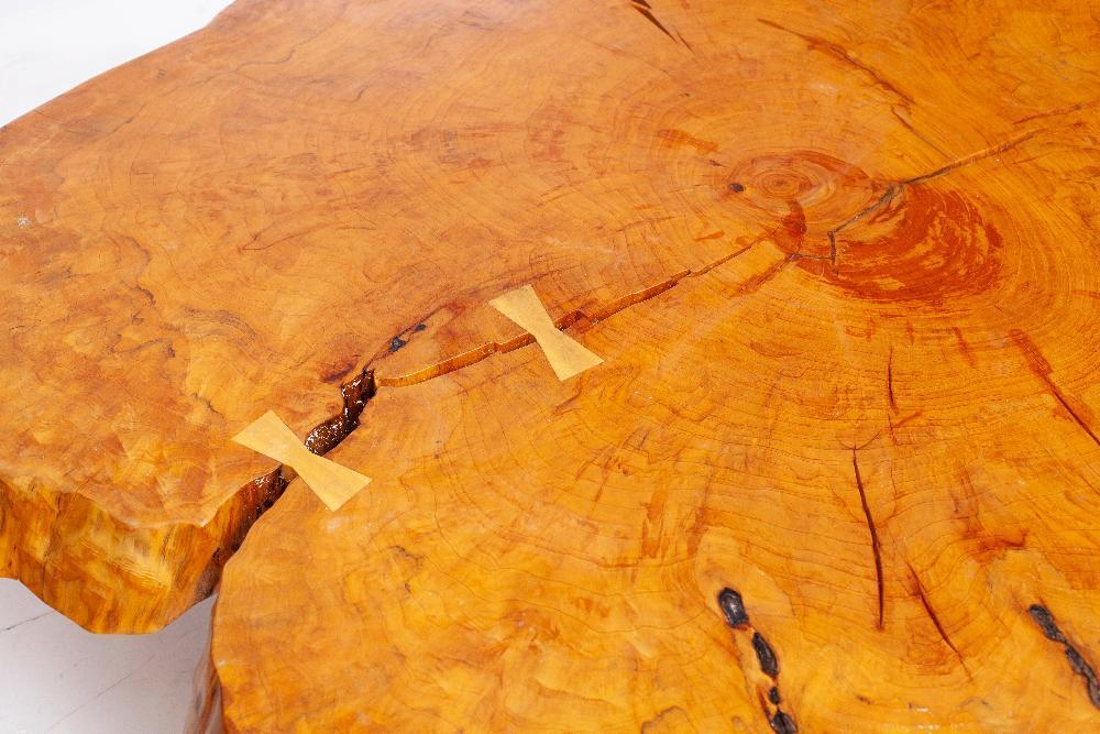 After George Nakashima Live Edge Cypress Coffee Table Vogt Auction