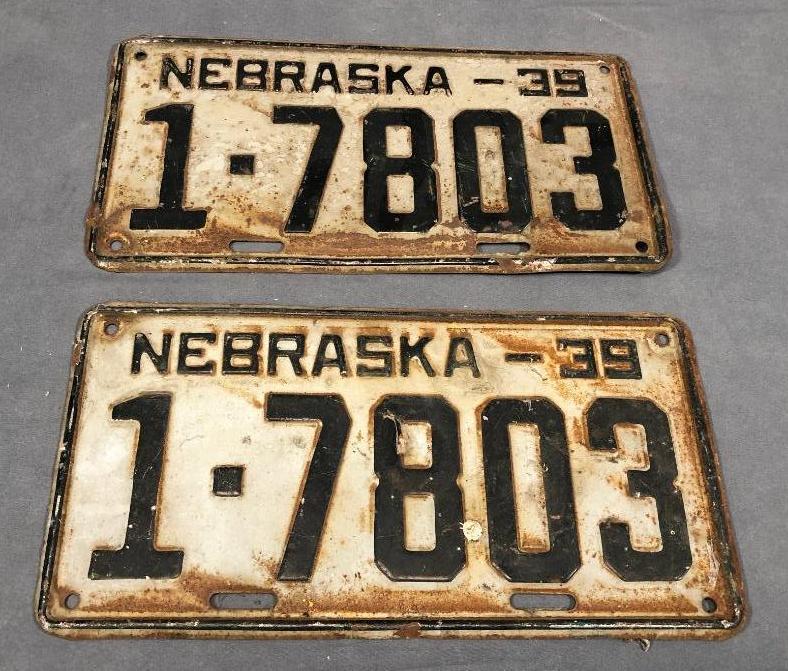 1939-nebraska-license-plates-matched-pair