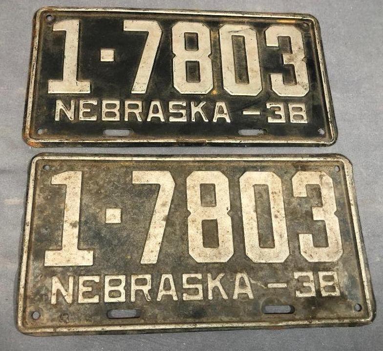 1938-nebraska-license-plates-matched-pair
