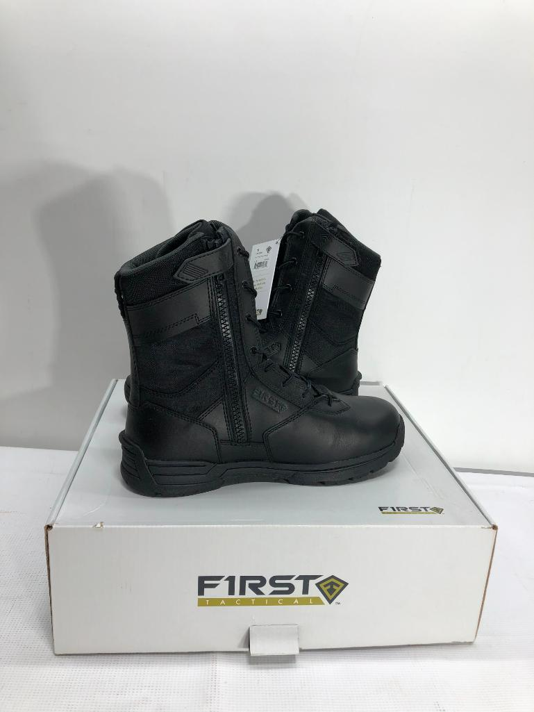 first-tactical-mens-8-side-zip-duty-black-boots-size-10