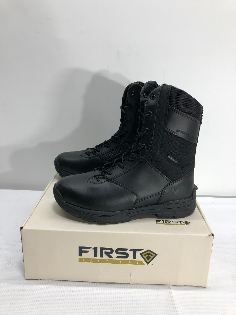 first-tactical-womens-8-waterproof-side-zip-duty-black-boots-size-8-msrp-129-99