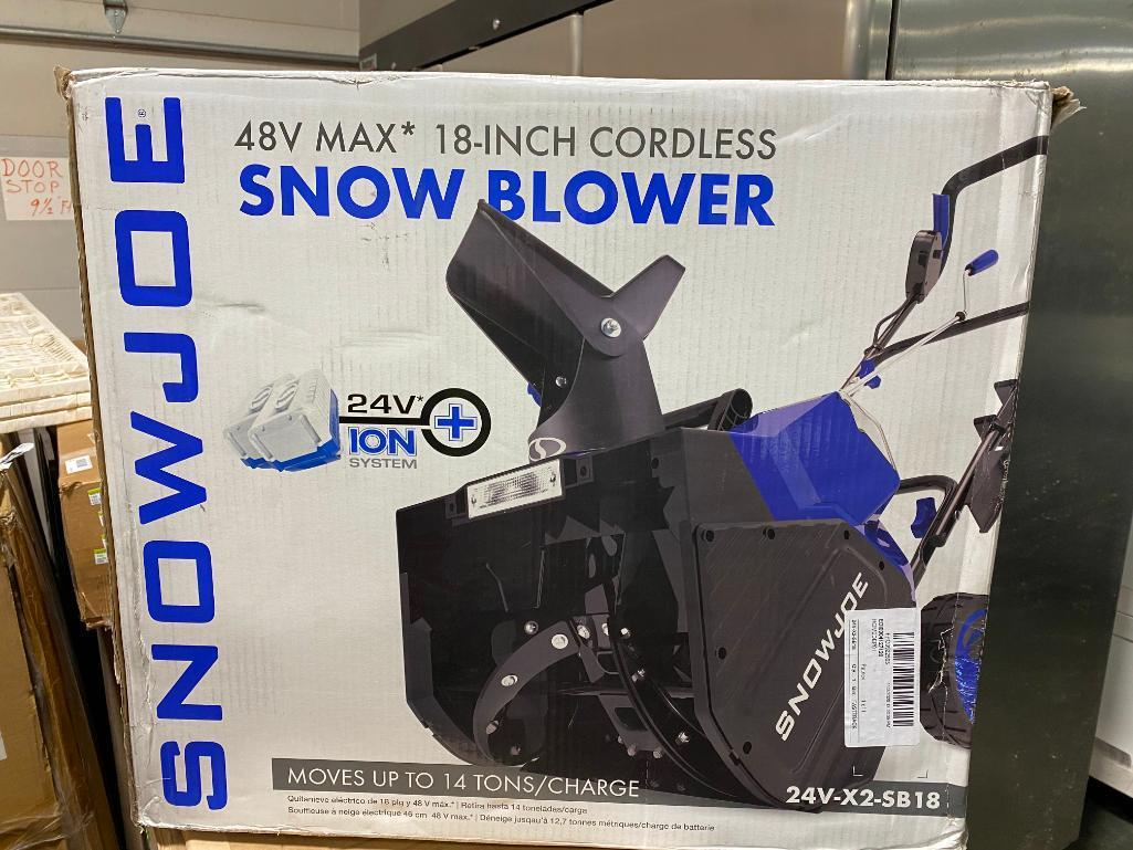 snow-joe-48v-max-18-in-cordless-snow-blower-w-charger-batteries-new-in-box