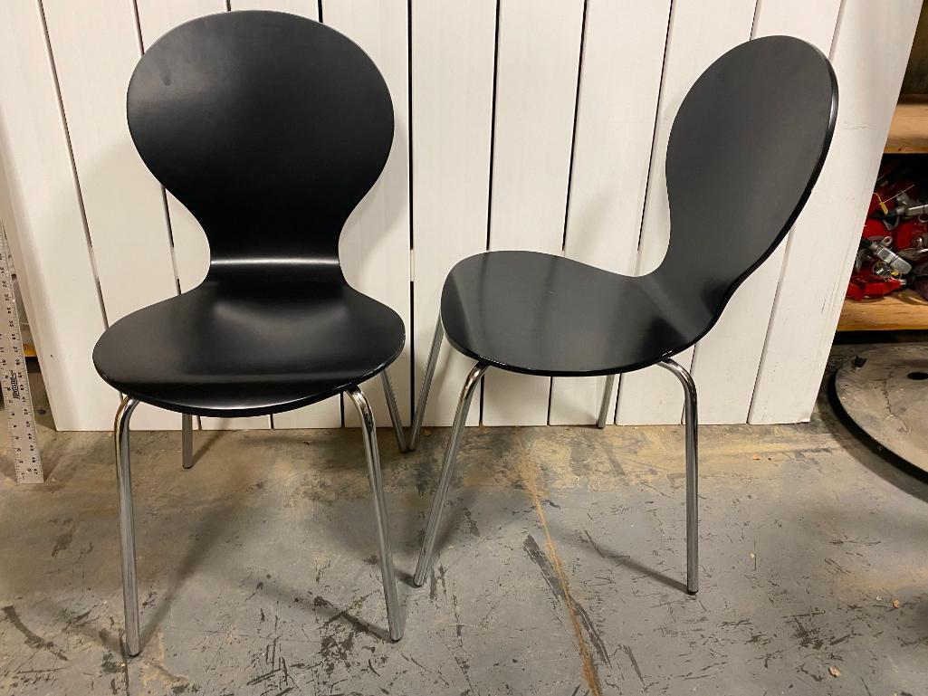 lot-of-4-contemporary-mid-century-modern-designed-wood-chrome-chairs-stackable