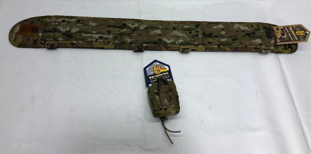 lot-of-2-items-1-high-speed-gear-sure-grip-padded-medium-belt-1-high-speed-gear-handcuff-taco-belt-mount