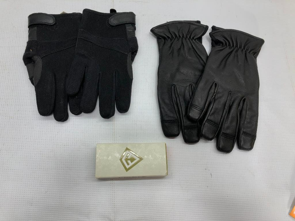 lot-of-3-items-1-hex-armor-needlestick-resistant-size-10-xl-gloves-1-armor-flex-gloves-size-l-1-first-tactical-viper-knife-tanto