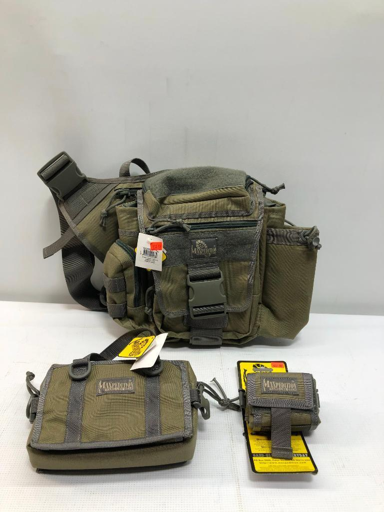 lot-of-3-items-1-maxpedition-jumbo-s-type-bag-1-maxpedition-rollypoly-dump-pouch-1-maxpedition-triptych-organizer
