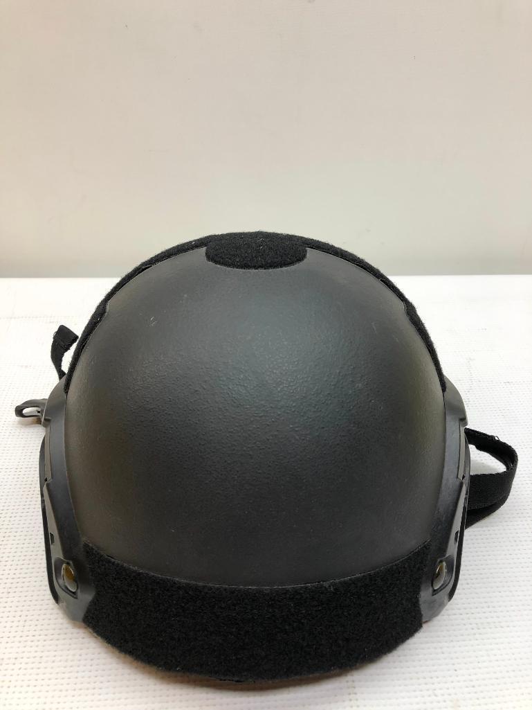 tac-pro-gear-tacprogear-scout-size-large-black-riot-gear-bullet-proof-helmet-iiia-protection-level-msrp-769-00