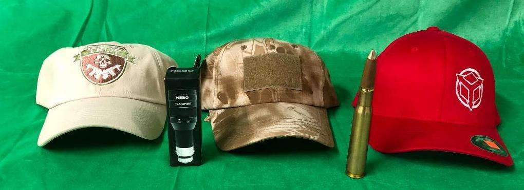 5-items-3-tactical-related-ball-caps-bullet-pen-nebo-transport-flashlight