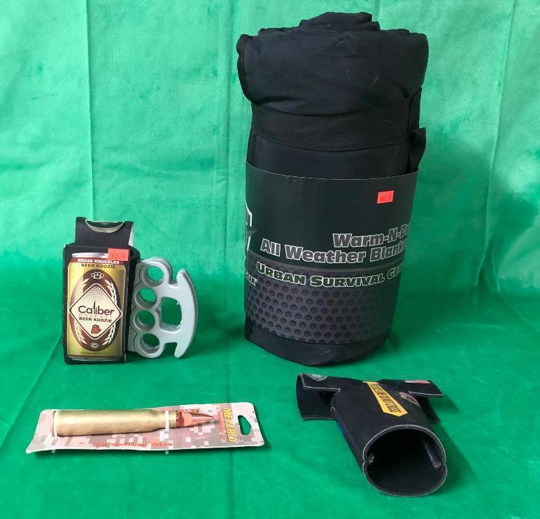 urban-survival-gear-warm-n-dry-all-weather-blanket-2-koozies-50-cal-bottle-opener