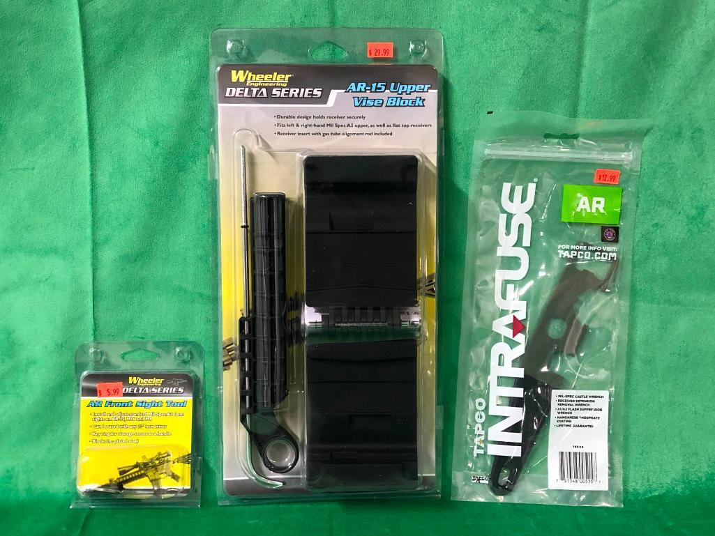 3-new-ar-items-wheeler-delta-series-ar-15-upper-vise-block-tapco-intrafuse-ar-mil-spec-castle-wrench-ar-front-sight-tool