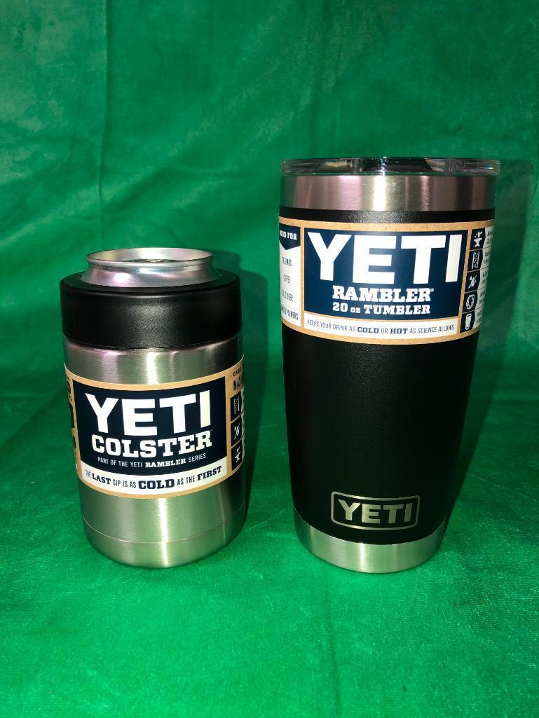 2-yeti-items-black-20oz-rambler-tumbler-stainless-steel-colster