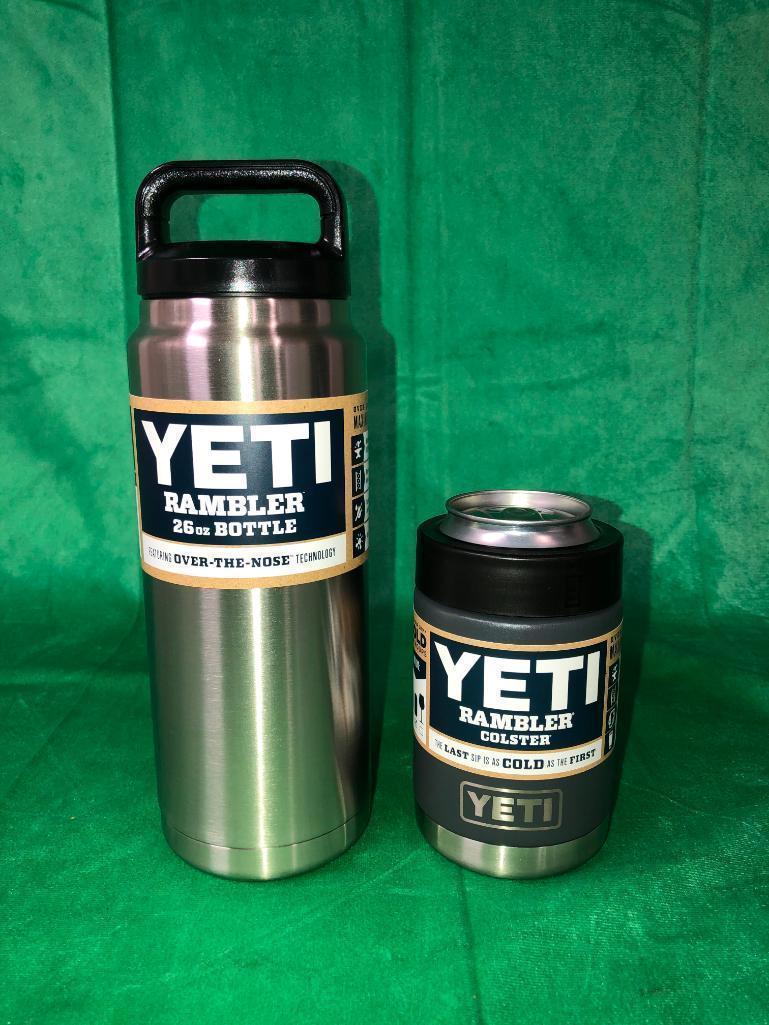 2-yeti-items-stainless-steel-yeti-rambler-bottle-26oz-yeti-rambler-colster