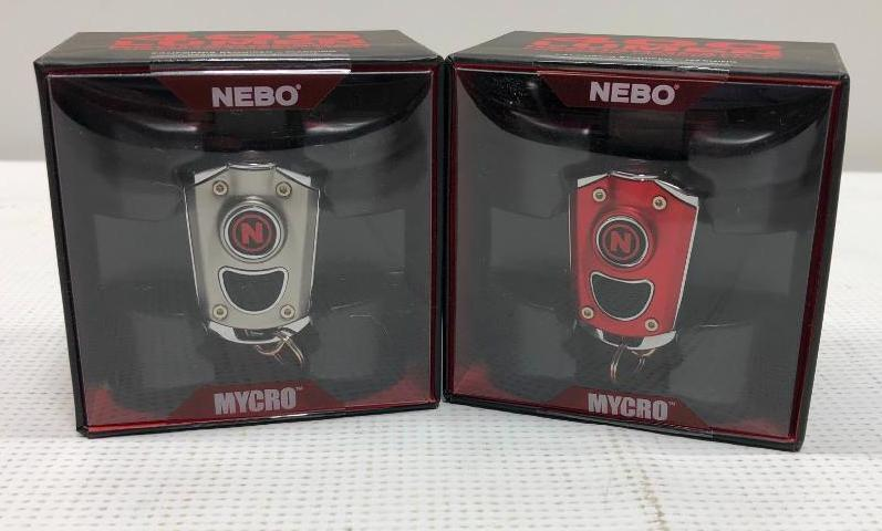 lot-of-2-nebo-mycro-400-lumen-rechargeable-pocket-flashlights-for-keychains