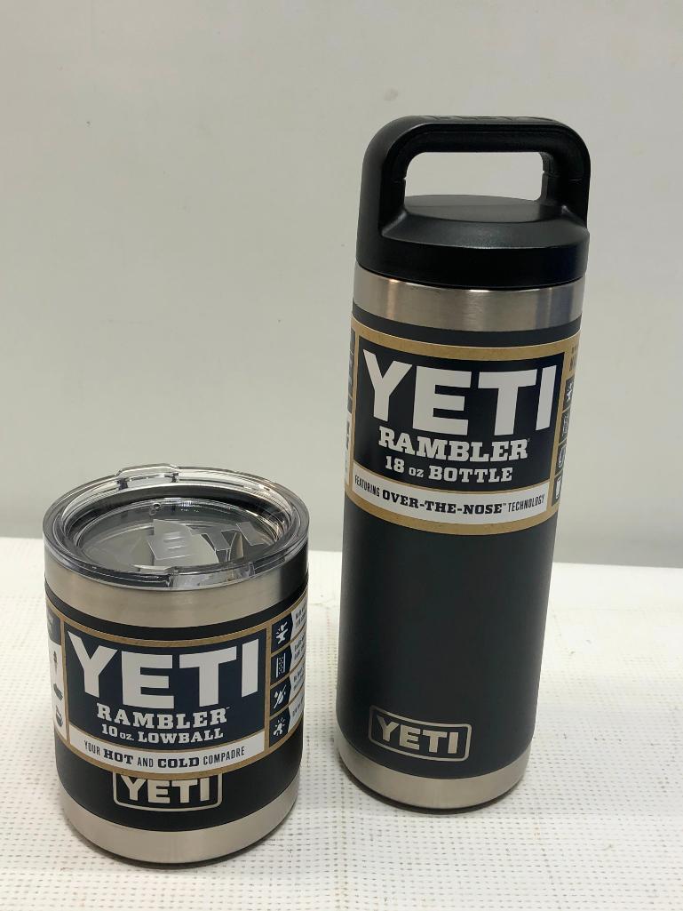 2-yeti-items-18oz-rambler-bottle-charcoal-10oz-rambler-lowball-black