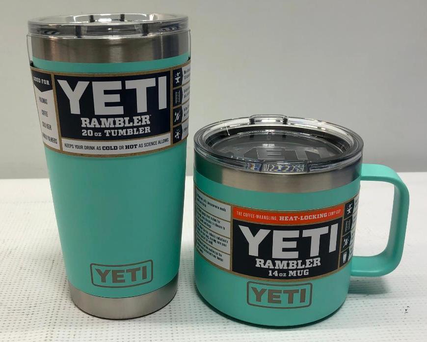 2-yeti-items-seafoam-20oz-rambler-tumbler-14oz-rambler-mug