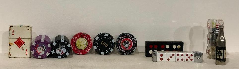 lot-of-10-gambling-themed-cigarette-lighters-poker-chips-and-dice-cards