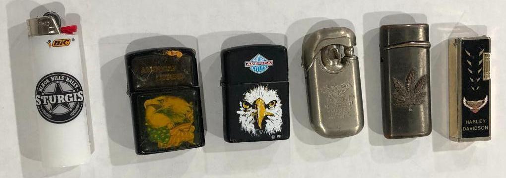 lot-of-6-harley-davidson-cigarette-lighters-sturgis