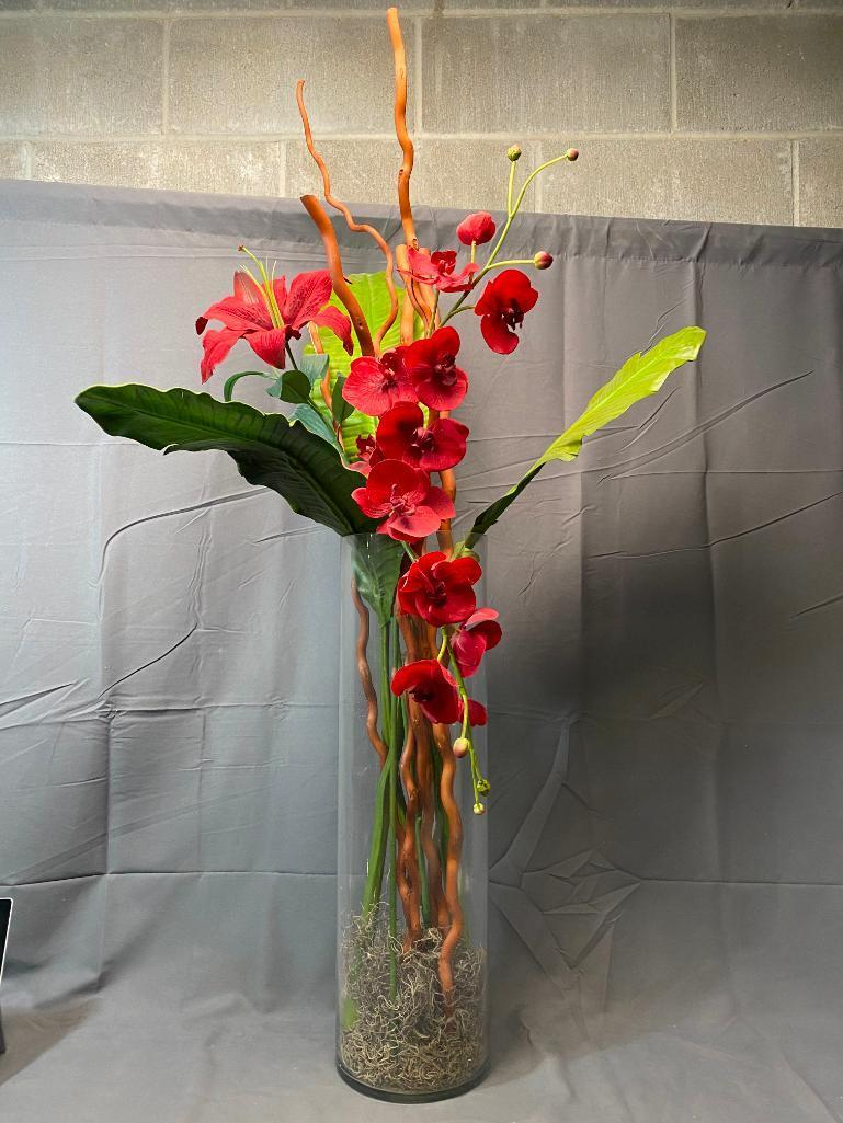 24in-clear-glass-vase-w-up-to-48in-decorative-flowers-and-stems-included