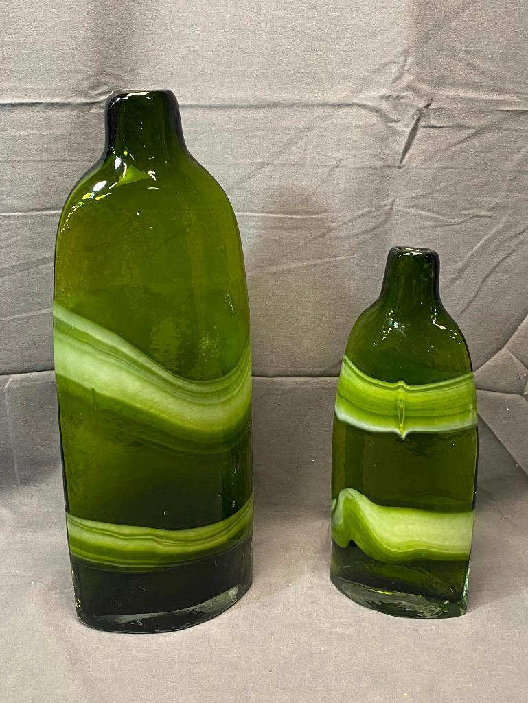 matching-pair-of-decorative-green-white-swirl-vases-from-pier-1-16in-11-5in