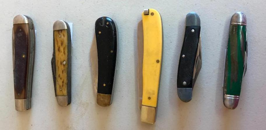six-vintage-pocket-knives-old-timer-sabre-shelham