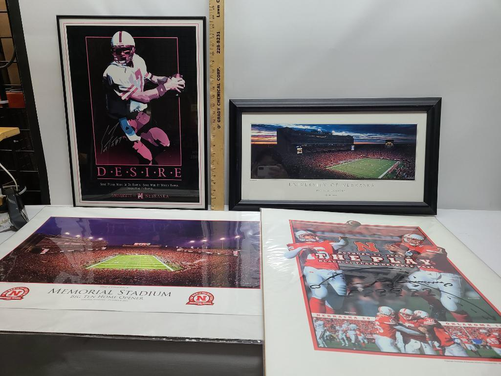 lot-of-4-nebraska-cornhuskers-football-posters-frames-desire-signed-by-scott-frost-24-x-18-more