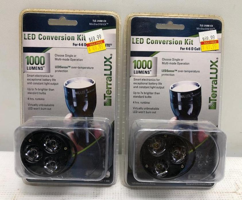 2-items-terralux-led-conversion-kit-1000-lumens-4-6-d-cell-flashlights-only
